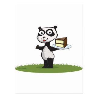 Panda Bear Cake Postcard
