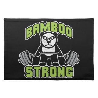 Panda Bear Cartoon - Bamboo Strong - Deadlift Placemat