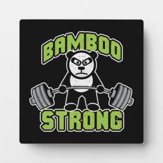 Panda Bear Cartoon - Bamboo Strong - Deadlift Plaque