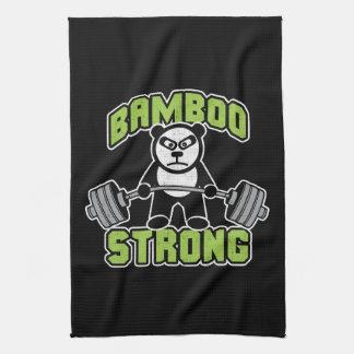 Panda Bear Cartoon - Bamboo Strong - Deadlift Tea Towel