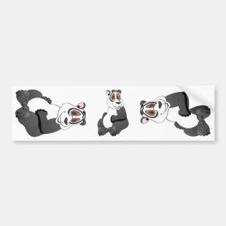 Panda Bear Cartoon Bumper Sticker