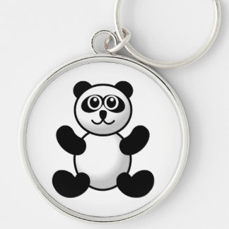 Panda bear cartoon key chain