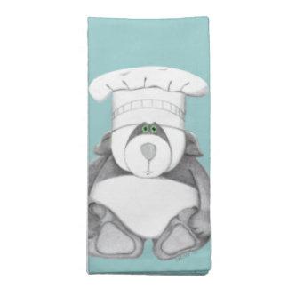 Panda Bear Chef Chocolate Cloth Napkins