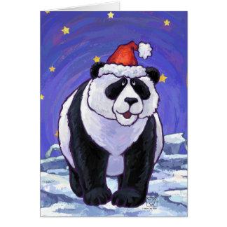 Panda Bear Christmas Greeting Card