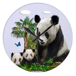 Panda bear clock