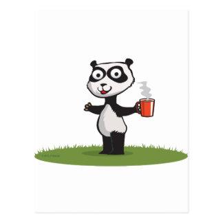 Panda Bear Coffee Postcard