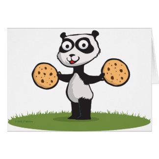 Panda Bear Cookie Greeting Card