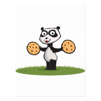 Panda Bear Cookie Postcard