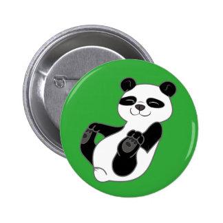 Panda Bear Cub 6 Cm Round Badge