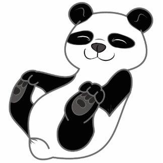 Panda Bear Cub Photo Sculpture Badge
