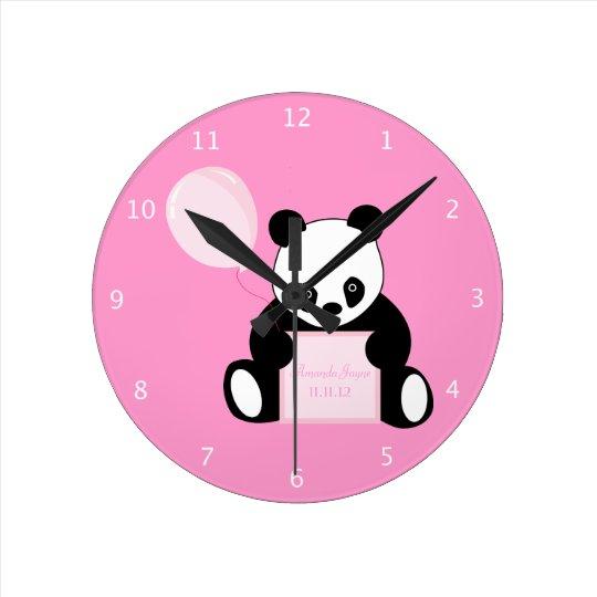 Panda Bear custom girls name & birth date