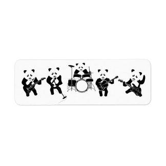Panda Bear Cute Band Return Address Label