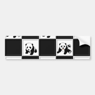 Panda Bear Design Bumper Sticker