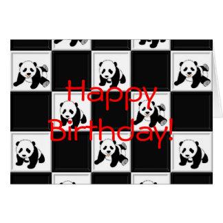 Panda Bear Design Greeting Card