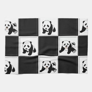 Panda Bear Design Tea Towel