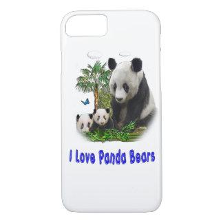 Panda bear designs iPhone 8/7 case