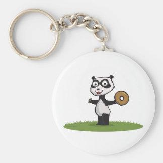 Panda Bear Donut Key Chain