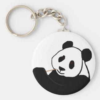 Panda bear eating key chain