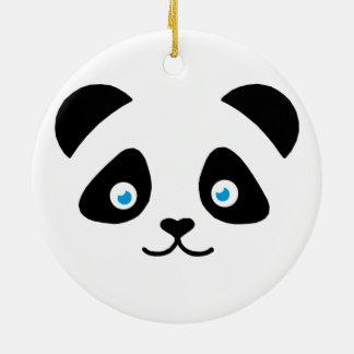 panda bear face christmas ornament