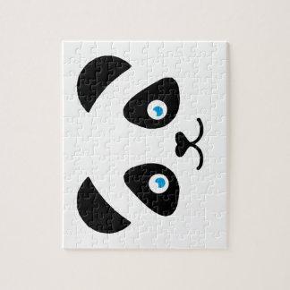 panda bear face jigsaw puzzle