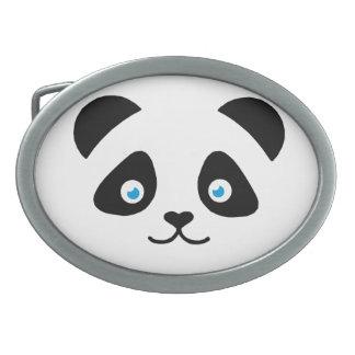 panda bear face oval belt buckles