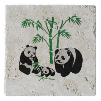 Panda Bear Family Trivet