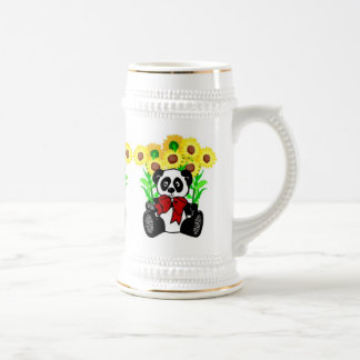 Panda Bear Flowers Coffee Mug