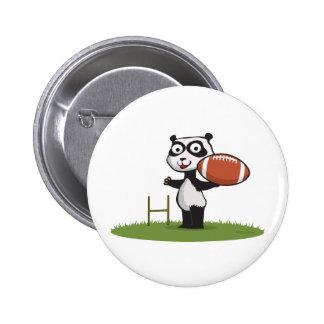 Panda Bear Football 6 Cm Round Badge
