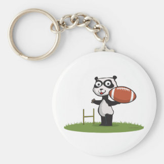 Panda Bear Football Key Chain