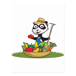 Panda Bear Gardener Postcards