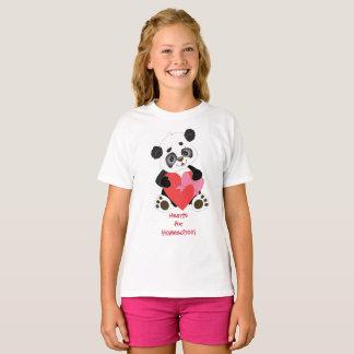 Panda Bear Hearts for Homeschool T-Shirt