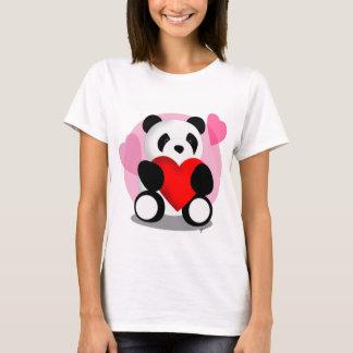 Panda Bear  Hearts Shirt