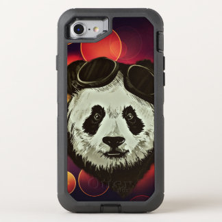 Panda Bear Hipster Style OtterBox Defender iPhone 7 Case