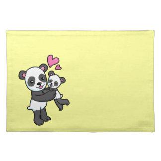 Panda Bear hugging baby bear Placemat
