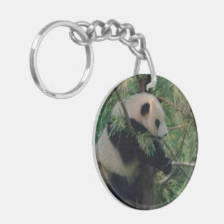 Panda Bear Hugs Keychain