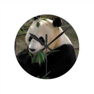 Panda Bear Hugs Round Clock