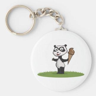 Panda Bear Ice Cream Keychains