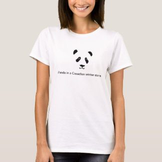 Panda Bear in a Canadian winter storm T-Shirt
