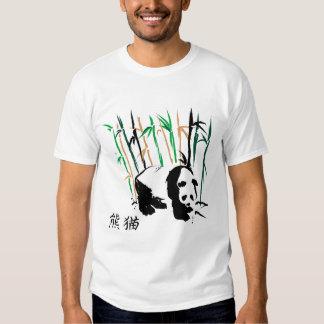 panda bear in bamboo design t shirts