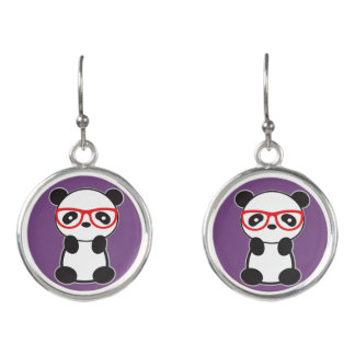 Panda Bear Jewelry - Leon The Panda Bear Earrings