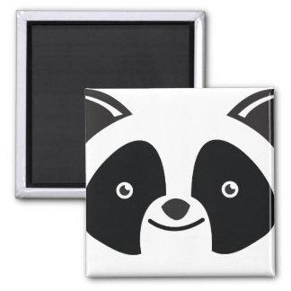 Panda Bear Kawaii face Square Magnet
