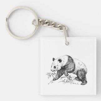 Panda Bear Acrylic Keychain