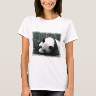 Panda Bear Ladies Fitted T-Shirt