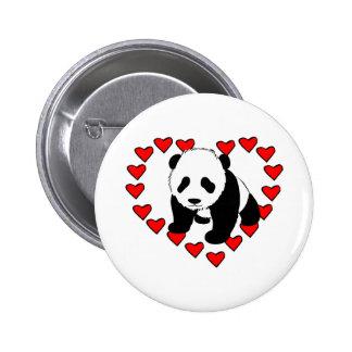 Panda Bear Love 6 Cm Round Badge