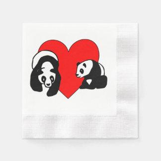 Panda Bear Love Disposable Napkins