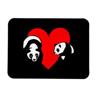 Panda Bear Love Rectangular Photo Magnet