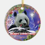 PANDA BEAR LOVERS CHRISTMAS TREE ORNAMENT