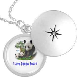 Panda Bear merchandise Silver Plated Necklace
