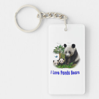 Panda Bear merchandise Single-Sided Rectangular Acrylic Key Ring