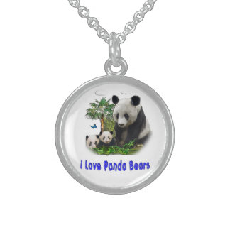 Panda Bear merchandise Sterling Silver Necklace